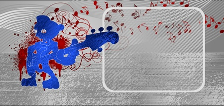 music metallic background Ilustrace