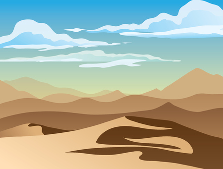 A high quality background of landscape with desert. Flat style.