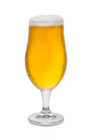 Full Belgium Ale with Condensation and Foam Head #4. Banco de Imagens
