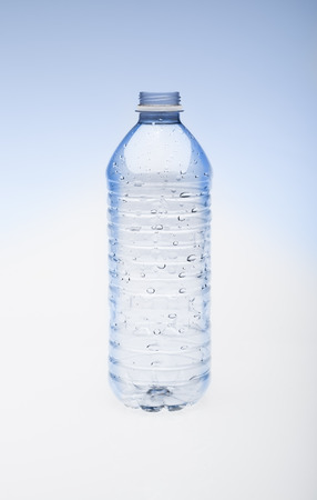Empty water bottle without cap.
