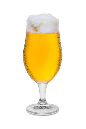 Full Belgium Ale with Condensation Foam Head Drip. Banco de Imagens