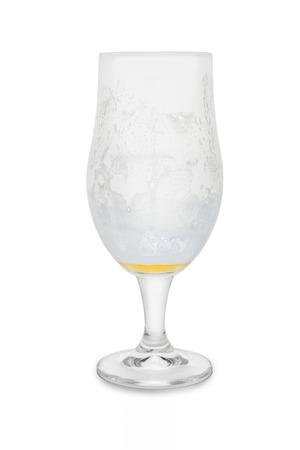 Almost Empty Belgium Ale . Banco de Imagens