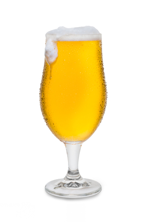 Full Belgium Ale with Condensation, Foam Head, and Drip #4. Banco de Imagens
