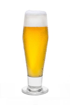 Classic Beer with Condensation, with Foam Head #4. Banco de Imagens