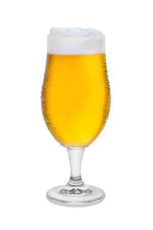Full Belgium Ale with Condensation and Foam Head #2. Banco de Imagens