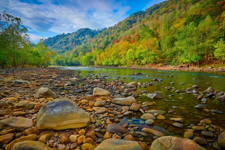 Boulders along the New River, WV.