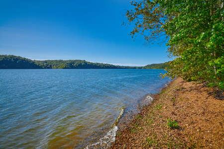 Shoreline of Kentucky Lake near Kenlake State Resort Park, Kentucky.