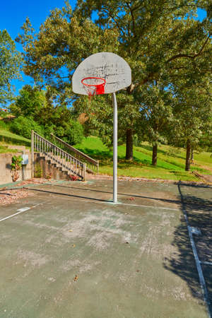 Old abandoned basketball coourt at Kenlake State Resort Park, Kentucky.