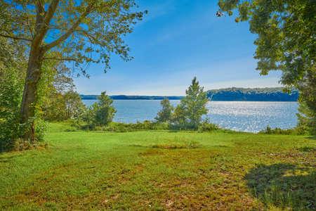 View of Kentucky Lake at Kenlake State Resort Park, Kentucky.