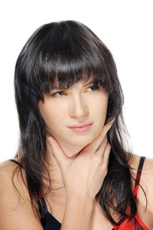 Pretty Woman leiden die Halsschmerzen Standard-Bild - 3719174