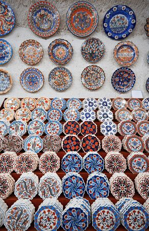 Ceramic art at pottery shop. Turkey