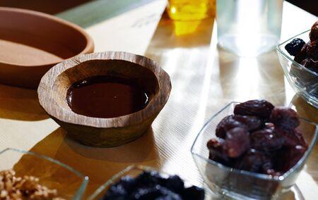 Vegan food on a table Standard-Bild