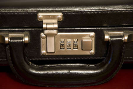 Photo of a black case with the code lock Stock Photo