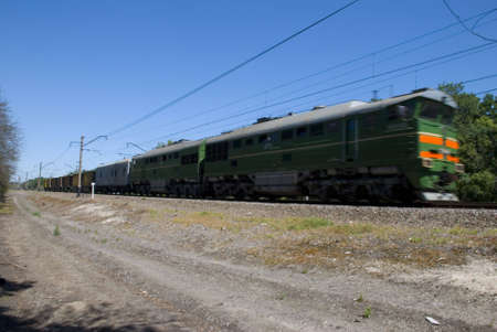 Photography of the train moving on railway Stock Photo