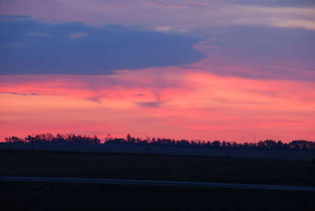 Photo the red sky during a morning dawn