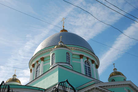 Kursk. Znamensky a monastery. A cathedral of an icon of Bozhiej of Mother  Stock Photo