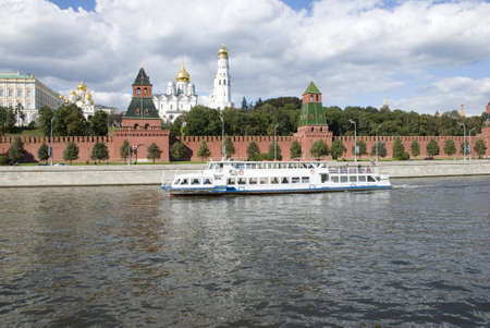 Photo of the Kremlin wall made in Moscow in the afternoon