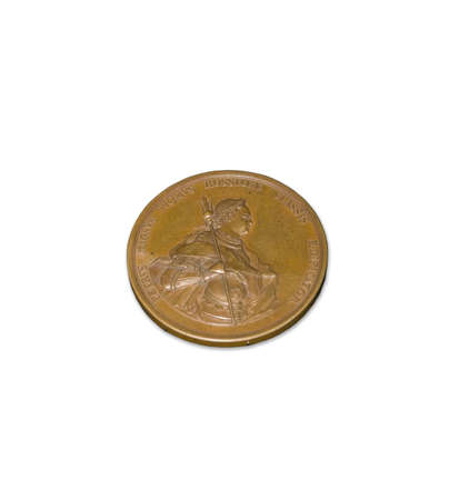 Photo of an ancient coin isolated on a white background  Stock Photo