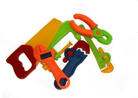 Set of plastic toy tools photo