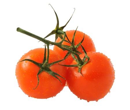 Tomatoes isolated on white background photo