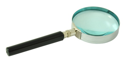 Magnifying glass on isolated white background