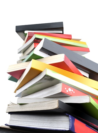 some of books pile isolated on white background Stock Photo - 13269067