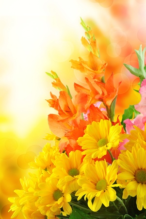 beautiful flower design. With copy space photo