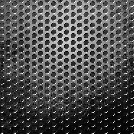 treadplate: Dark metal texture with copy space Stock Photo