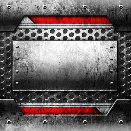 floor machine: Metal plantilla con copia espacio