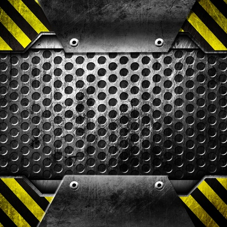 treadplate: Metal template  With Open concept   copy space