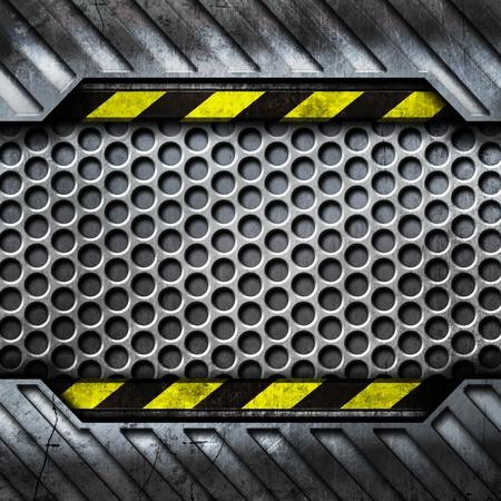 Металл шаблон с копией пространства открытой концепции Фото со стока