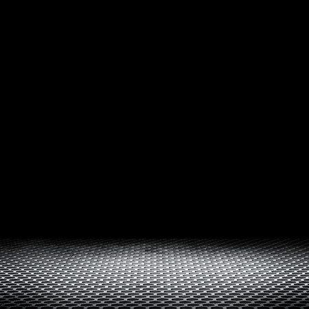 metalic texture: Empty room with dark background