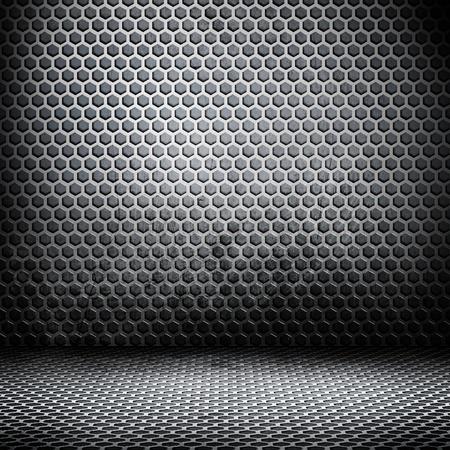 Empty room  With metal interior design