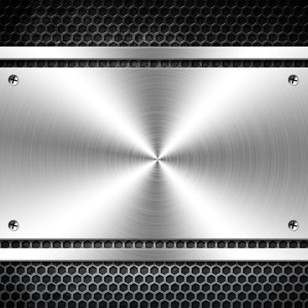 Шаблон металла с копией пространства Фото со стока