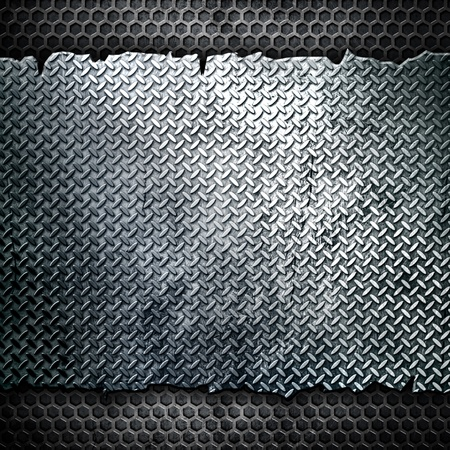 diamond shaped: metal background