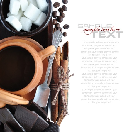 Coffee Break Menu ( With coffee cups, sample text ) Stock Photo - 13906651