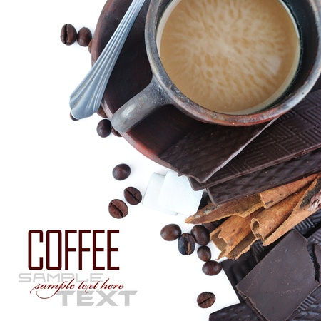 Coffee Break Menu ( With coffee ingredient, sample text ) photo