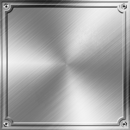 metal pettern: metal background with emboss border Stock Photo