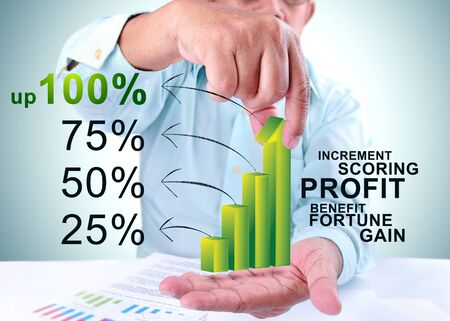 businessman take 100  profit Stock Photo - 16841340
