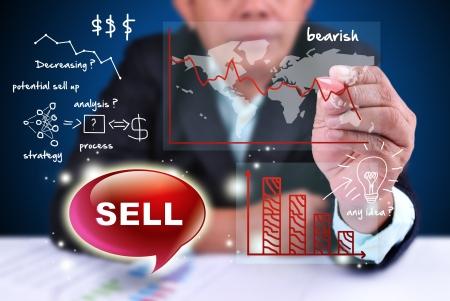 businessman analyze trading sell Stock Photo - 16588920