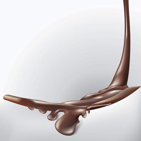 chocolate melt: Sfondo di cioccolato con fusione Vettoriali