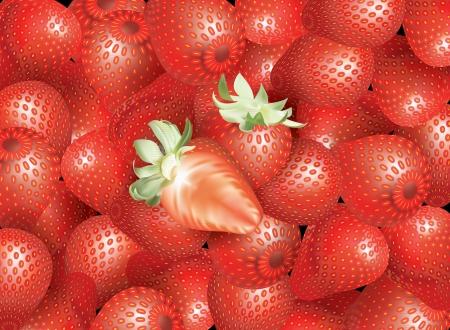 full of strawberry Stock Vector - 16827555