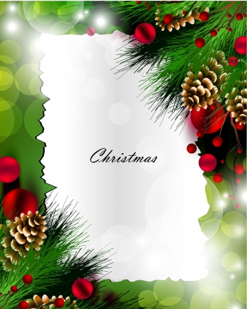 Art of Christmas greeting card Vector