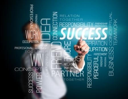 business process: business man designed success Stock Photo