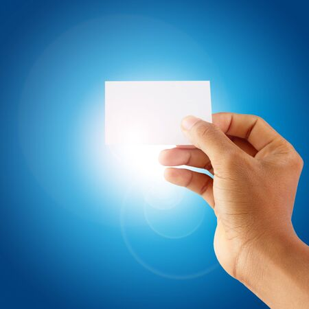 hand holding a blank card Stock Photo - 17264307