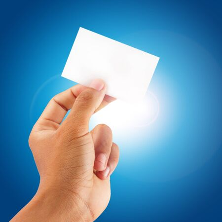 hand holding a blank card Stock Photo - 17264309
