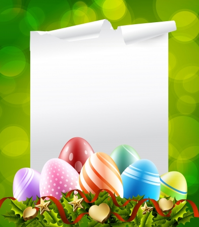 easter eggs background Stock Vector - 17710225