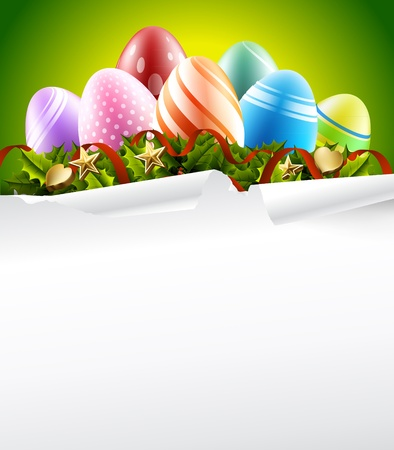 easter eggs background Vector