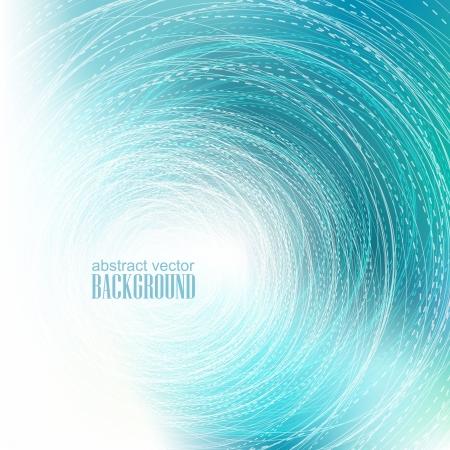 абстрактные Голубая волна круг