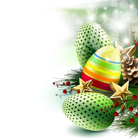 easter eggs background Vector Illustration